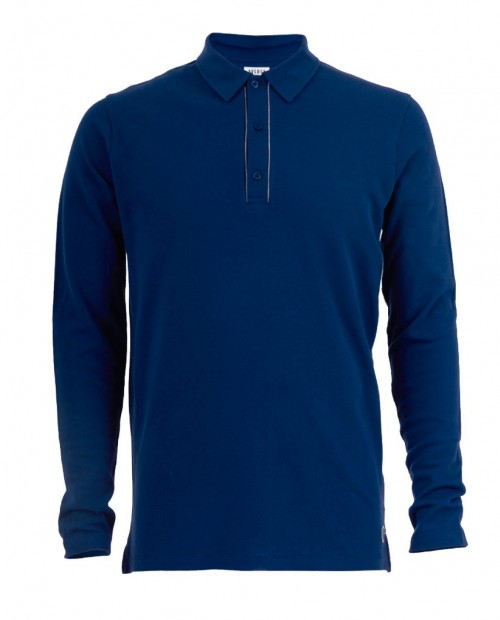 Icicle long sleeve polo